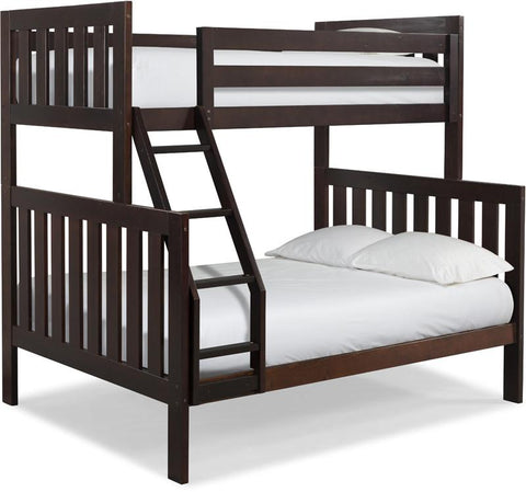 Canwood 2504-9 Lakecrest Twin/Double Bunk Bed Bundle-Espresso (Angled Ladder)                                                 - Peazz.com