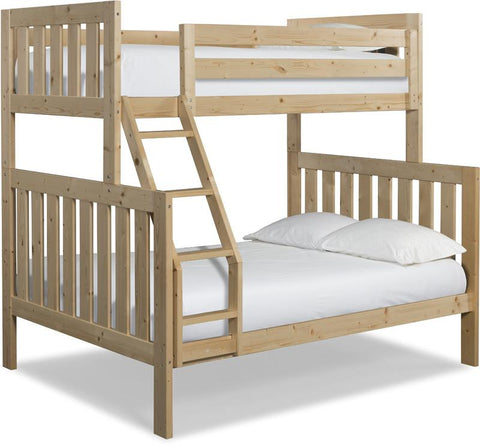 Canwood 2504-5 Lakecrest Twin/Double Bunk Bed Bundle-Natural (Angled Ladder)                                                 - Peazz.com