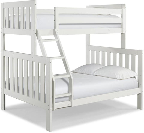 Canwood 2504-1 Lakecrest Twin/Double Bunk Bed Bundle-White (Angled Ladder)                                                 - Peazz.com