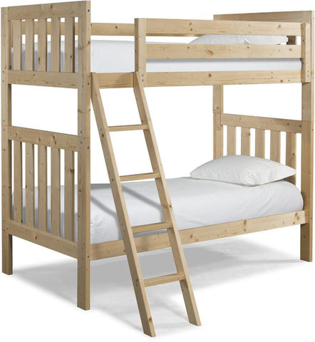 Canwood 2505-5 Lakecrest Twin/Twin Bunk Bed Bundle-Natural (Angled Ladder)                                                   - Peazz.com
