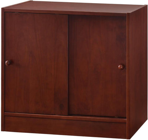 Canwood 2233-4 Whistler Junior 2 Door Cupboard-Cherry - Peazz.com