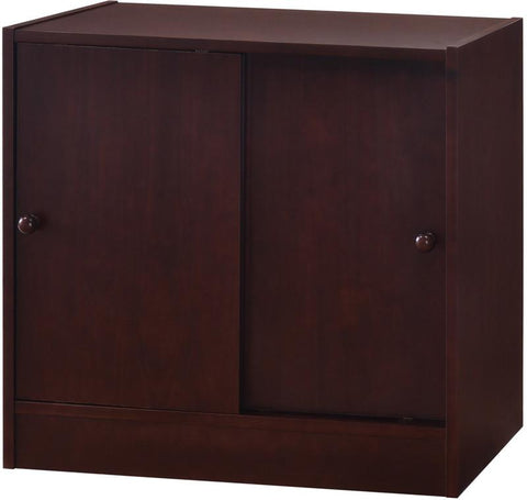 Canwood 2233-9 Whistler Junior 2 Door Cupboard-Espresso - Peazz.com