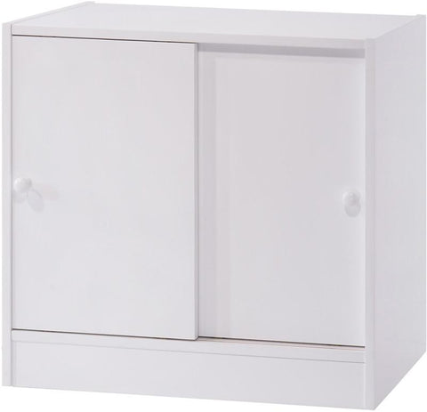 Canwood 2233-1 Whistler Junior 2 Door Cupboard-White - Peazz.com