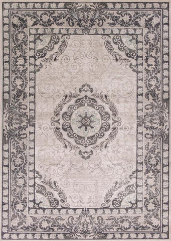 "KAS Rugs Chandler 4901 Grey Treasures Machine-Woven 100% Polypropelene 7'10"" x 10'10"""