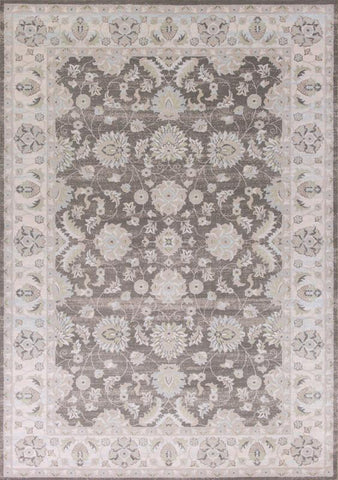 "KAS Rugs Chandler 4906 Charcoal/Ivory Mahal Machine-Woven 100% Polypropelene 7'10"" x 10'10"""