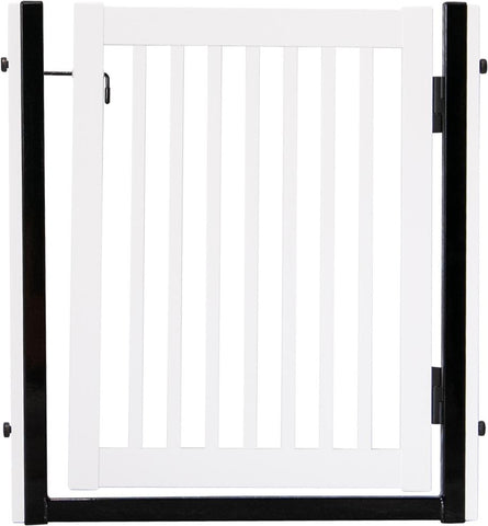 "Citadel Pressure Mount Pet Gates are Handcrafted by Amish Craftsman 34"" High -spans a 32"" opening - White"