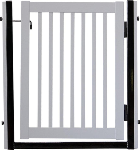 "Citadel Pressure Mount Pet Gates are Handcrafted by Amish Craftsman 34"" High - spans a 32"" opening - Pumice Grey"