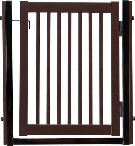 "Citadel Pressure Mount Pet Gates are Handcrafted by Amish Craftsman 34"" High - spans a 32"" opening - Mahogany"
