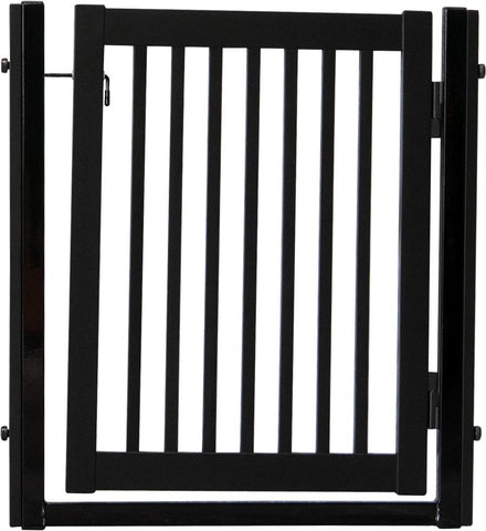 "Citadel Pressure Mount Pet Gates are Handcrafted by Amish Craftsman 34"" High - spans a 32"" opening - Black"
