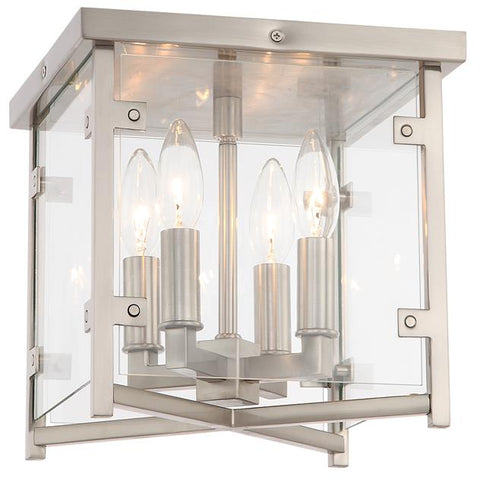 Crystorama Danbury 4 Light Brushed Nickel Ceiling Mount