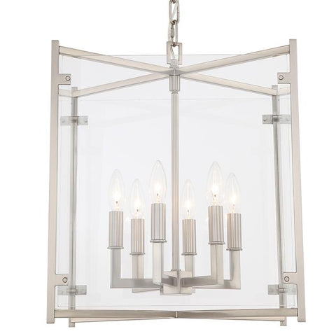 Crystorama Danbury 6 Light Brushed Nickel Chandelier