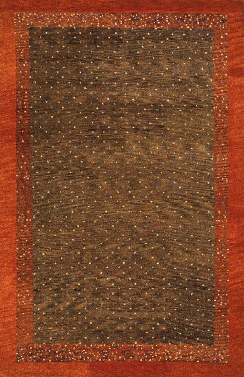Indian Hand Knotted Collection Brown Rugs 166 Product Photo