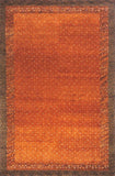 Momeni DEGABDG-01PAP96D6 Indian Hand Knotted Desert Gabbeh Collection Paprika Finish Rugs