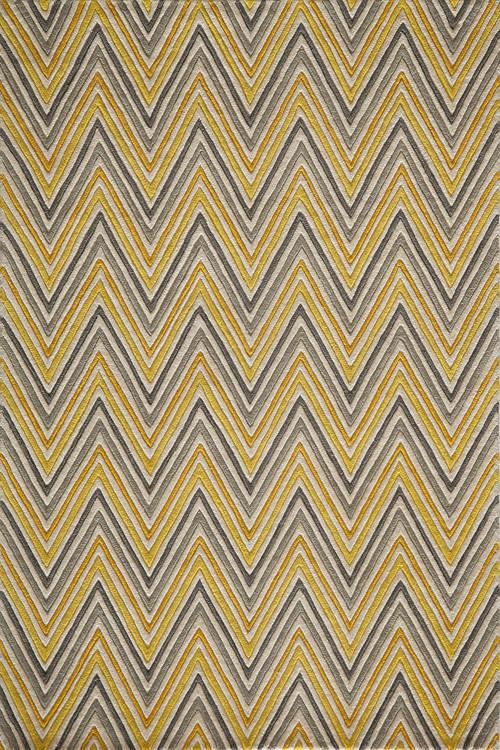 Indian Hand Tufted Collection Yellow Rugs 3098 Product Photo