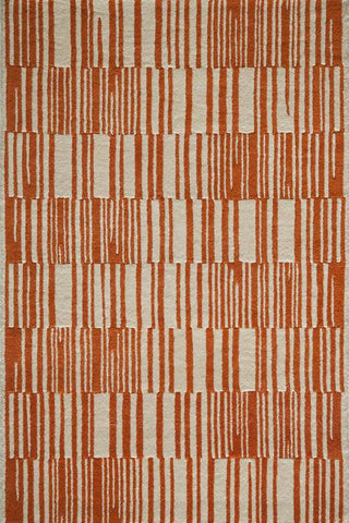 Momeni DELHIDL-49ORG80A0 Indian Hand Tufted Delhi Collection Orange Finish Rugs