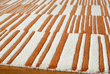 Momeni DELHIDL-49ORG80A0 Indian Hand Tufted Collection Orange Finish Rugs 8'X10'