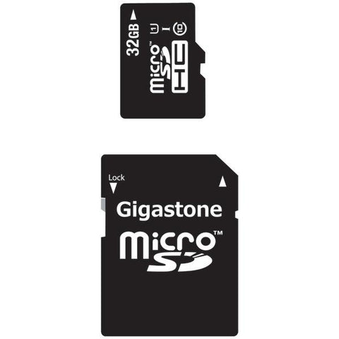 Gigastone GS-2IN1C1032G-R Class 10 UHS-1 microSDHC Card & SD Adapter (32GB) - Peazz.com