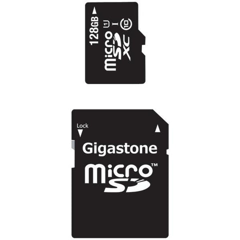 Gigastone GS-2IN1X10128G-R Class 10 UHS-1 microSDHC Cards & SD Adapter (128GB) - Peazz.com