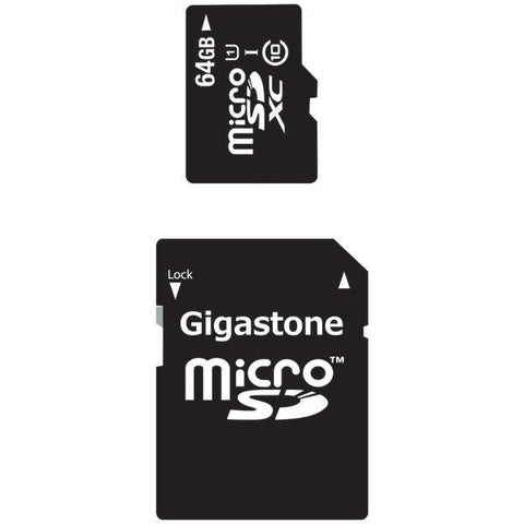 Gigastone GS-2IN1X1064G-R Class 10 UHS-1 microSDHC Cards & SD Adapter (64GB) - Peazz.com