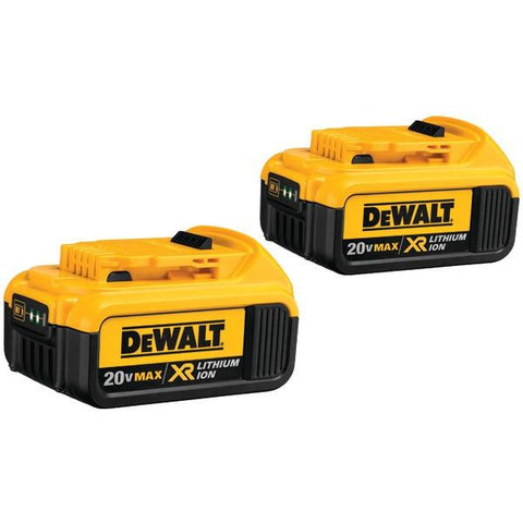 DEWALT DCB204-2 20-Volt 4.0Ah Li-Ion Battery (2 pk) - Peazz.com