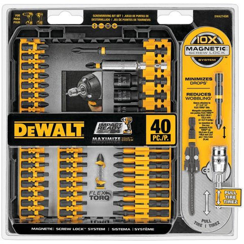 DEWALT DWA2T40IR 40-Piece Impact-Ready Screwdriver Set - Peazz.com