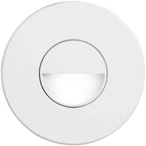 Dainolite DLEDW-300-WH White Round In/Outdoor 3W LED Wall Light