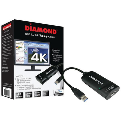 Diamond BVU5500 USB 3.0 4K Display Adapter with Ultra HD - Peazz.com