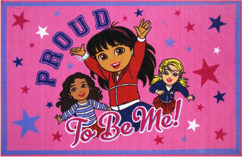 Fun Rugs DO-21 3958 Dora Collection Proud To Be Me Multi-Color - 39 x 58 in. - Peazz.com