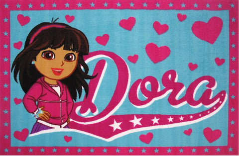 Fun Rugs DO-23 5178 Dora Collection Dora Multi-Color - 51 x 78 in. - Peazz.com