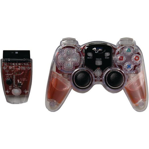 dreamGEAR DGPN-525 PlayStation2 Lava Glow Wireless Controller (Red) - Peazz.com