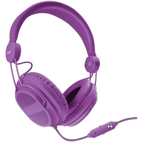 dreamGEAR DGHP-5540 HM-310 Kid-Friendly Headphones with Microphone (Purple) - Peazz.com