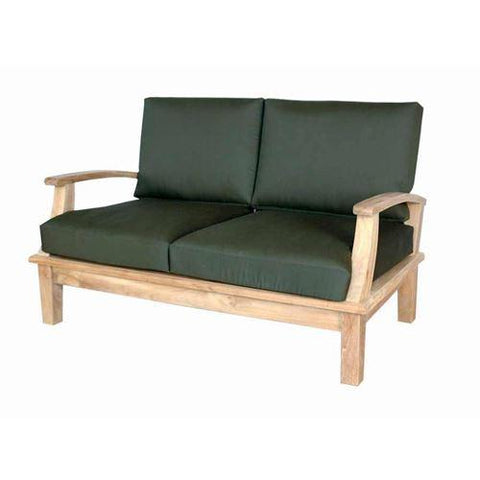 Anderson Teak DS-102 Brianna Deep Seating Loveseat + Cushion - Peazz.com