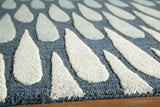 "Momeni DUNESDUN-7BLU2380 Indian Hand Tufted Collection Blue Finish Runner 2'3""X8'"