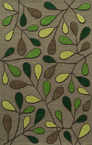 Momeni DUNESDUN-9GRN5080 Indian Hand Tufted Dunes Collection Green Finish Rugs