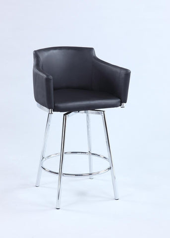 Chintaly DUSTY-BS-BLK Club Bar stool w/ memory swivel