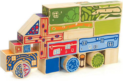 Hape Eco-Blocks E5526 Creative Play