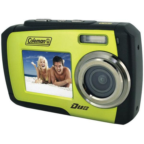 Coleman 2V7WP-G 14.0-Megapixel Duo Waterproof Dual Screen Digital Camera (Green) - Peazz.com