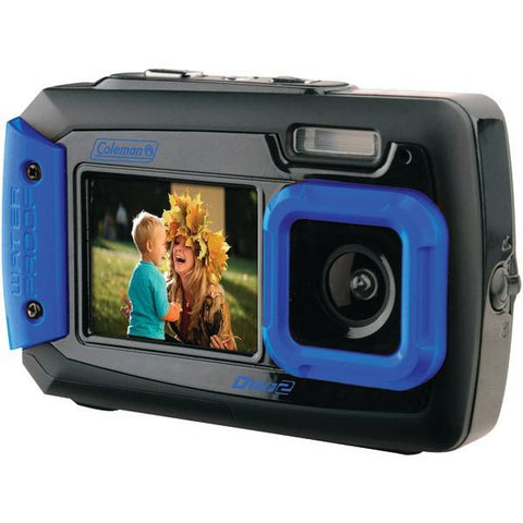 Coleman 2V9WP-BL 20.0-Megapixel Duo2 Dual-Screen Waterproof Digital Camera (Blue) - Peazz.com
