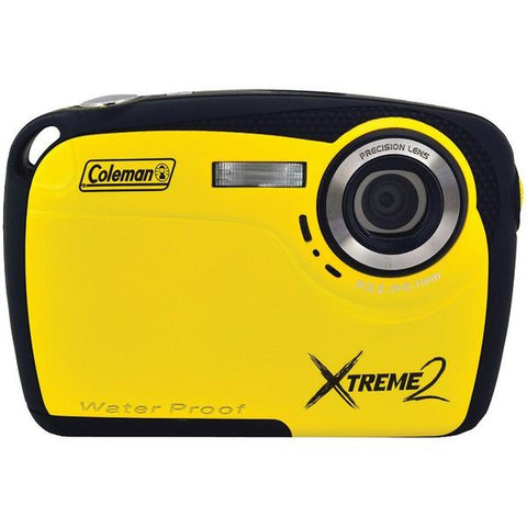 Coleman C12WP-Y 16.0-Megapixel Xtreme2 HD Waterproof Digital Camera (Yellow) - Peazz.com