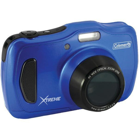 Coleman C30WPZ-BL 20.0-Megapixel Xtreme4 HD Waterproof Digital Video Camera (Blue) - Peazz.com