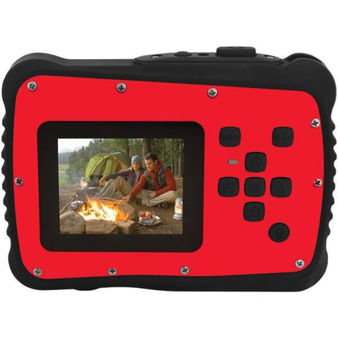 Coleman C6WP-R 12.0-Megapixel MiniXtreme HD Video Waterproof Digital Camera (Red) - Peazz.com