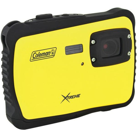 Coleman C6WP-Y 12.0-Megapixel MiniXtreme HD Video Waterproof Digital Camera (Yellow) - Peazz.com