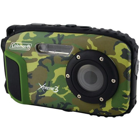 Coleman C9WP-CAMO 20.0-Megapixel Xtreme3 HD Video Waterproof Digital Camera (Camo) - Peazz.com