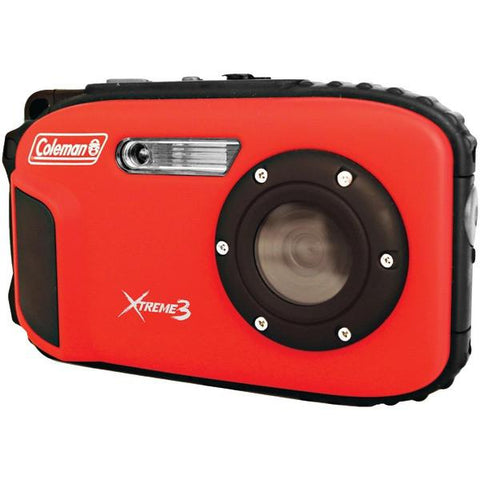 Coleman C9WP-R 20.0-Megapixel Xtreme3 HD Video Waterproof Digital Camera (Red) - Peazz.com