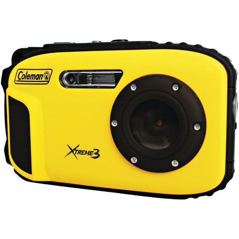 Coleman C9WP-Y 20.0-Megapixel Xtreme3 HD Video Waterproof Digital Camera (Yellow) - Peazz.com