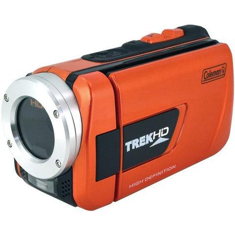 Coleman CVW16HD-O 16.0-Megapixel 1080p TrekHD Waterproof Digital Video Camcorder - Peazz.com