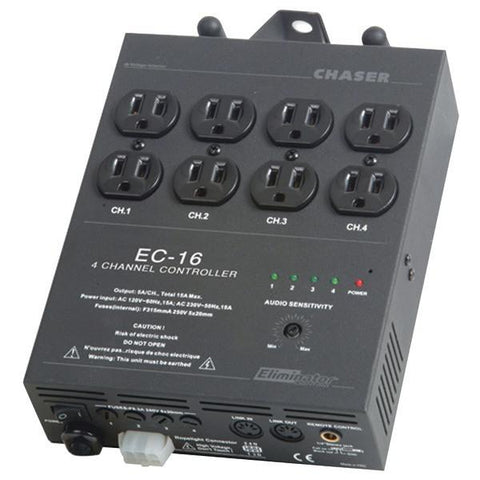 Eliminator Lighting EC16 4-Channel EC-16 Light Controller with 8 Outputs - Peazz.com