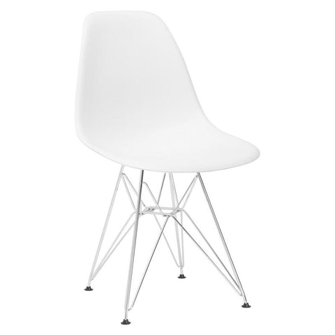 EdgeMod EM-104-CRM-WHI Padget Side Chair in White