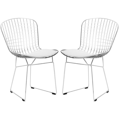 EdgeMod EM-108-WHI-X2 Morph Side Chair in White (Set of 2)