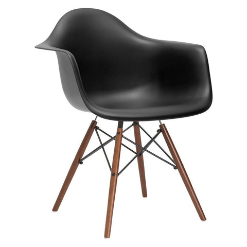 EdgeMod EM-110-WAL-BLK Vortex Arm Chair Walnut Leg in Black